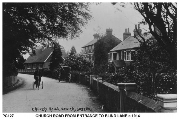 Church Road from Entrance to Blind Lane circa 1914