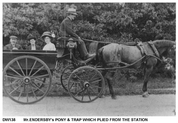 Mr Endersby's Pony and Trapp which plied from the station
