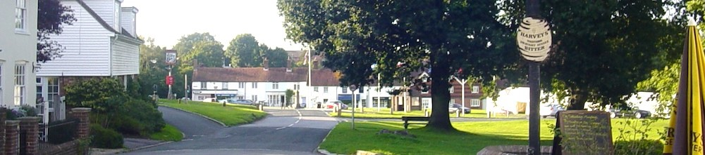 View of Newick Village Green from the Oak Public House